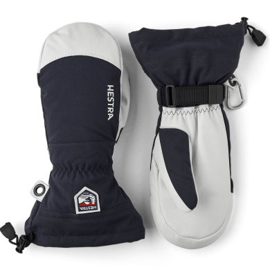 Hestra Arm Leather Heli Ski Mitt - Navy